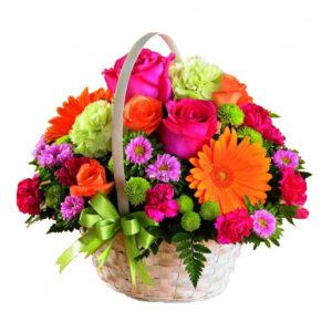 корзина с цветами Весеннее настроение