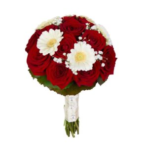 букет для невесты из гербер и роз